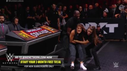 Tegan Nox attacks Dakota Kai in the crowd, sparking an ugly brawl: WWE Worlds Collide, Jan. 25, 2020