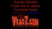 Spanish Ballades - Fuiste mia un verano - karaoke instrumental