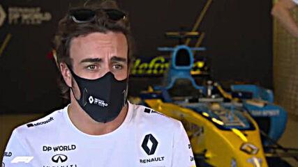 Фернандо Алонсо Говори За Тестовете Със Болидът На Рено ♥ Формула 1 Интервю ♥