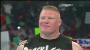 Джон Сина и Брок Леснар се сбиват - Raw 9.4.2012