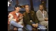 Интервю със Силвестър Сталоун, Арнолд Шварценегер и Брус Уилис в Планета Холивуд