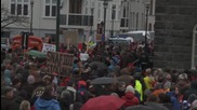 Iceland: Panama Papers demo continues outside parliament in Reykjavik