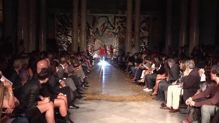 longest beutiful model fall maria lafuente runway