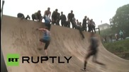 Russia: See hard-core participants tackle army-standard course at Race of Heroes