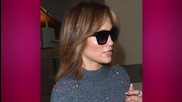Jennifer Lopez Debuts Shorter Hairstyle in LAX & Gets Confetti Bombed