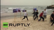 State of Palestine: Gazan artists stage theatrical demo in solidarity with refugees