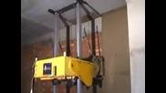 Страхотна машина за измазване на стени