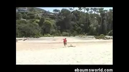 Глупаци на плажа се бият за...?