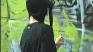 рисуване на графити - Gez 3,  000 subscriber appreciation throwie simple graffiti
