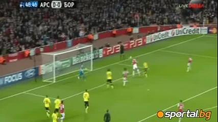 Арсенал - Борусия Дортмунд 2:1 Шампионска лига 23.11.2011