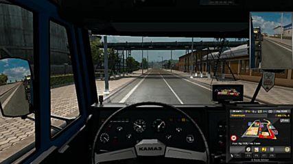 Първи опит за шофиране на Камаз 5410 в Ets 2