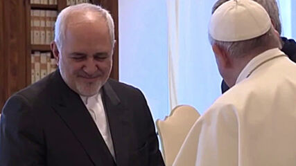 Holy See: Pope Francis welcomes Irani FM Zarif in Vatican