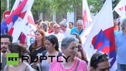 Greece: Trade unionists protest against austerity deal ahead of parliament vote