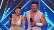 Валентин Динов и Борислава Динова изумиха журито в сезон на * Америка търси талант *