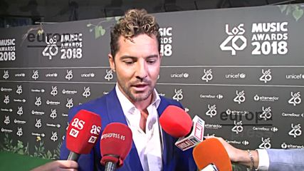 David Bisbal Entrevista Los 40 Music Awards