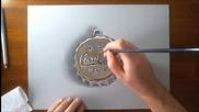 3d рисунка на капачка на кока-кола!