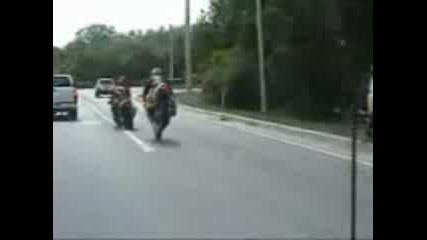 Ето така не се кара мотор на предна гума #смях#
