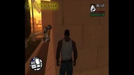 Grand Theft Auto San Andreas - Мотора си остава във въздуха.Човека умира от сърдечен удар.