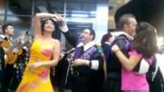 """Испански мариачи пеят и танцуват в Бургас - """"флората"""""""