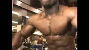 Bodybuilder Michael Lockett cable crossovers