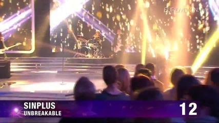 Евровизия 2012 - Sinplus - Unbreakable
