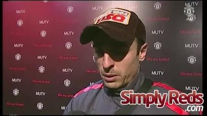 Димитър Бербатов интервю ( Manchester United 7 - 1 Blackburn Rovers )