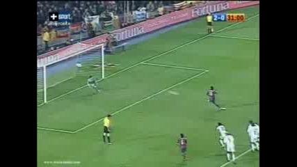 Ronaldinho Бележи Дузпа За 3 - 0 Срещу Real