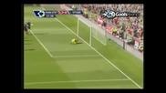 Прекрасна асистенция на Бербатов за 2 - 0 срещу Сток Сити