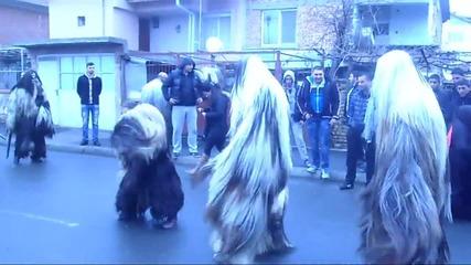 Най-големите ! Кукеров ден в Бургас ( Меден Рудник ) 02.03.14