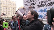 Spain: Podemos leader Iglesias champions Telefonica strikers on May Day