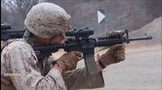 Пистолет M9 и автомат M4 - Тренировъчна стрелба на Американски морски пехотен корпус