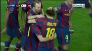 меси с 4 гол за каталунците Барселона 4:1 Арсенал 06.04.2010
