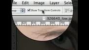 Урок с Photoshop . Подправяне на мигли .