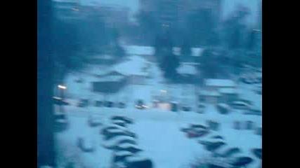 Сняг във Варна (от нашия блок) :d