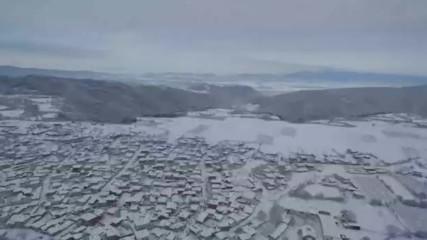 КАДРИ ОТ ВЪЗДУХА: Красотата на Калофер през зимата