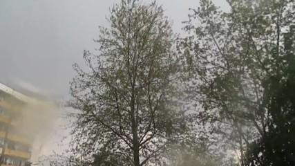 Буря с градушка, 16 апр, 2017