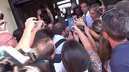Italy: Bayern legend Franck Ribery greeted by supporters ahead of Fiorentina signing