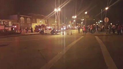 Протестиращи в Милуоки запалиха магазини