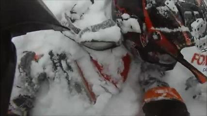 Да останеш заровен под снега ..