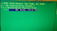 Dell_perc_h310 Raid controller Bios menu