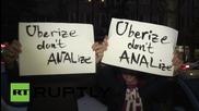 Протест срещу спирането на ЮБЕР пред Върховния Административен Съд #SofiaNeedsUber'