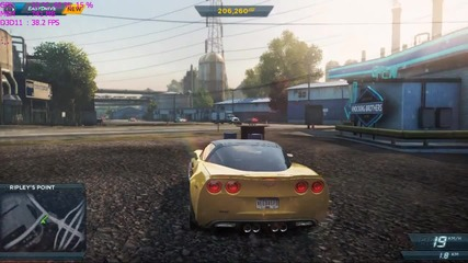 need for speed most wanted 2012 fps test 1280x720