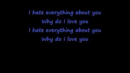 Three Days Grace - I Hate Everything About You Lyrics+bg Subs