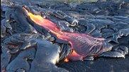 Потоци от лава, заснети в Хавай