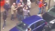 Spain: Clashes erupt between football fans in Bilbao