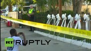USA: Tributes pour in at Charleston church after fatal shooting