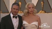 Lady Gaga на червения килим на наградите Оскар - 2016