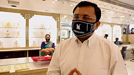 India: Jewellery store sells diamond-studded face masks in Surat
