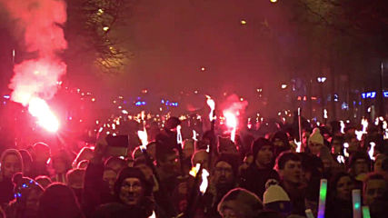 France: Torchlit procession protests pension reforms in Paris