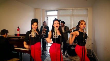 Burn - Vintage Postmodern Jukebox Girl Group Ellie Goulding Cover with Flame-o-phone